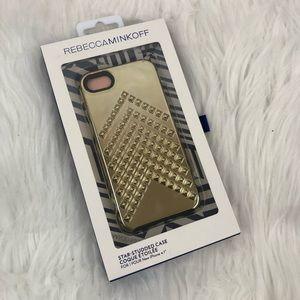 Rebecca Minkoff iPhone 7 Case Gold Studded